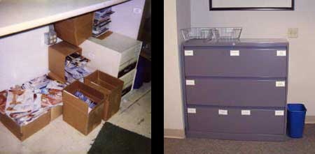 'Before' and 'After' organizing